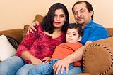 East Indian Couple with their son