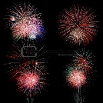 Fireworks over Black