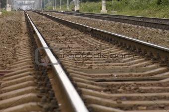by rail train