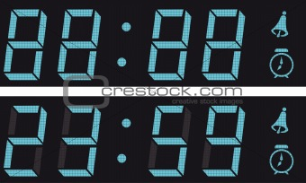 The display a digital clock.