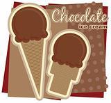 Chocolate Ice Cream Illustration