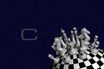 3D image of the chess world