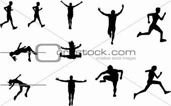 athletics silhouettes
