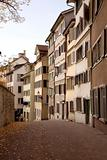 row of zurich apartments