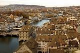 zurich skyline - river view