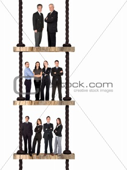 business team work - corporate ladder