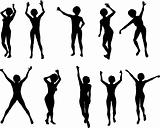 10 Action Poses in vector format