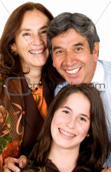 beautiful happy family portrait