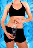 fit body with a water bottle