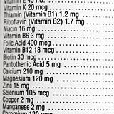 Nutritional label.