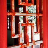 Asian wooden window