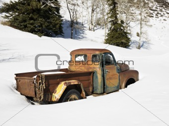 Old rusted truck.