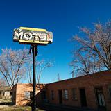 Rundown motel.