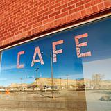 Cafe window.