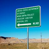 Disposal site sign.