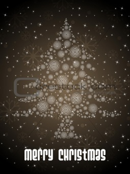 olive green background with xmas tree