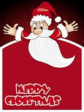 maroon xmas background with santa