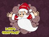 spiral background with flying santa claus