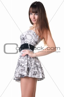 beautiful woman in sexual dress.