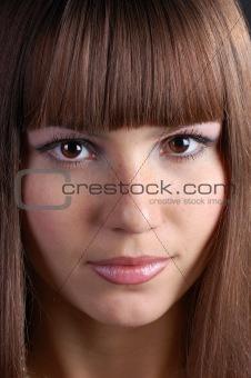 portrait of beautiful brunette .