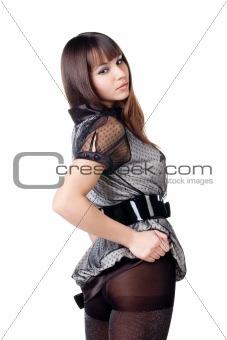 beautiful woman in sexual dress