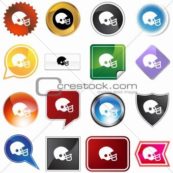 Football Helmet Variety Set