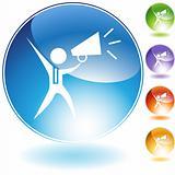 Megaphone Businessman Crystal Icon
