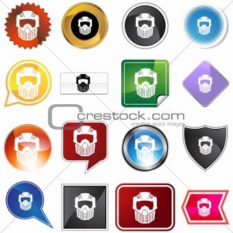 Paintball Mask Helmet Variety Set