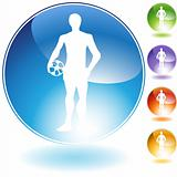 Soccer Guy Crystal Icon