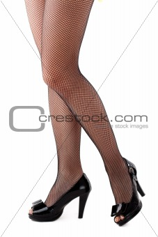 Beautiful woman legs in stockings