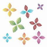 flower decorative design vector