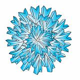 ice snowflake vector design