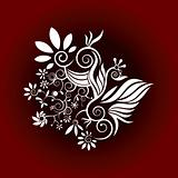 organic decorative flower vector background