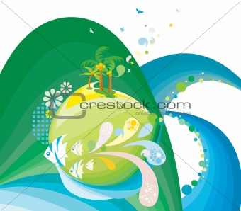abstract nature scenery