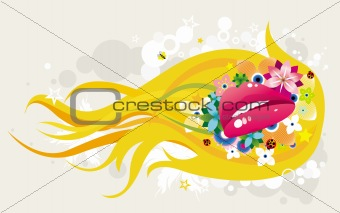 Abstract illustrated design
