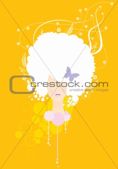 abstract fashion girl