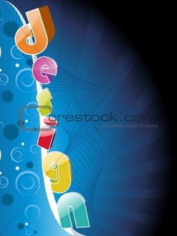 abstract futuristic background, illustration
