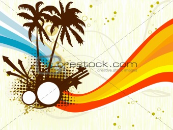 abstract grungy tropical background