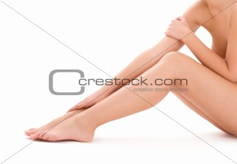 healthy beautiful woman legs