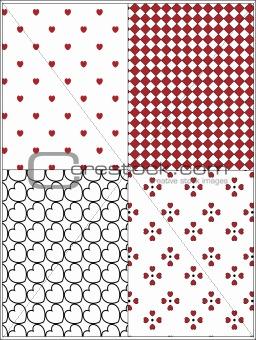 Four Vector Valentine Wallpaper Backgrounds