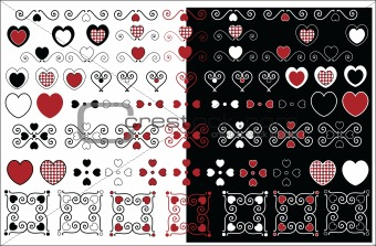 Vector Valentine Designs With Gingham Trim