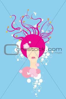 abstract fashion girl