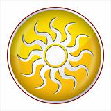 Sun Button yellow