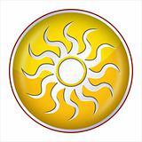 Sun Button yellow