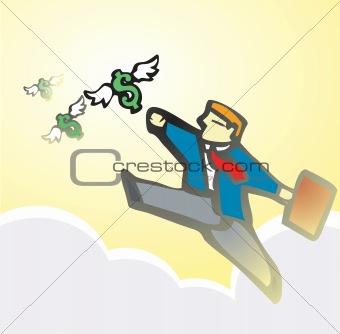 Businessman Chasing Money