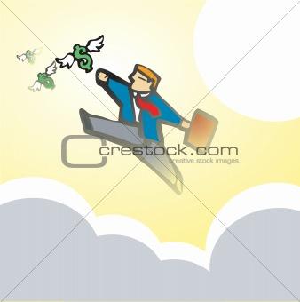 Businessman Chasing Money #2