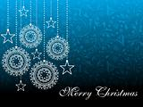 artwork background with hanging xmas object