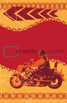 Grunge biker frame