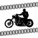 Biker grunge silhouette for your design