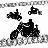 Biker grunge silhouettes for your design